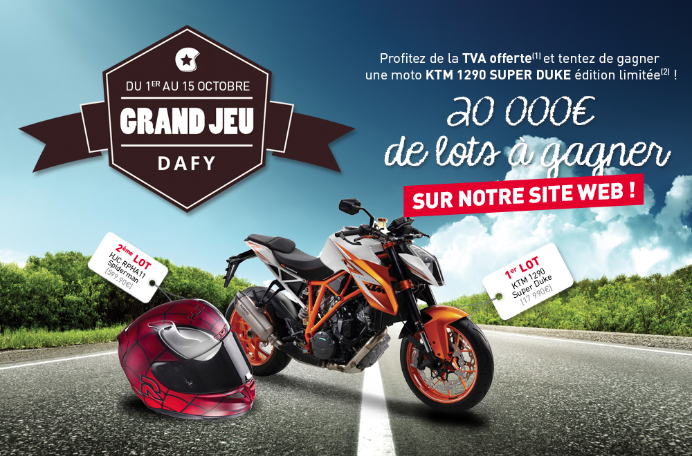 20 000 de lots gagner dont une ktm super duke dafy the blog. Black Bedroom Furniture Sets. Home Design Ideas