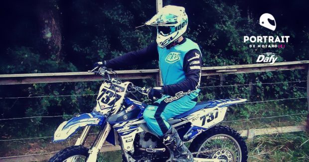 Portrait motard Maurad Corne cross